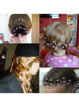 12PCS/Lot Small Cute Crystal Flowers Metal Hair