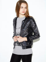 Women Blingbling sequined outwear coats casual