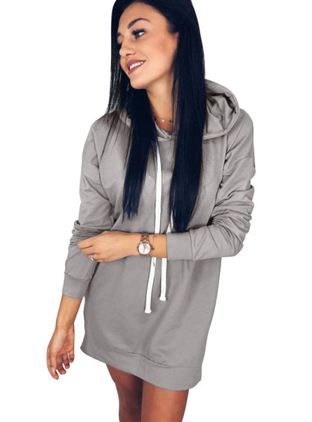 Round Neck Hooded Loose Long Sleeve Vests