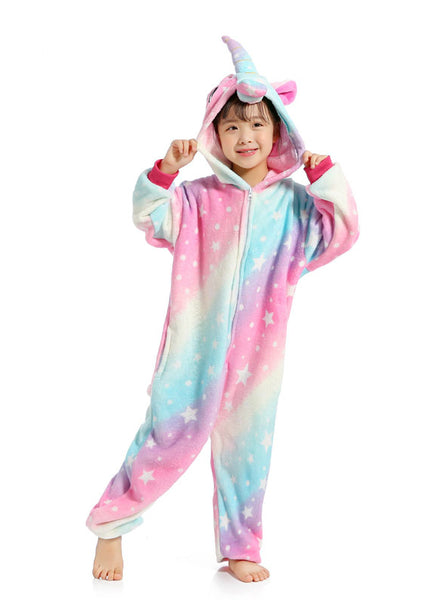 Unicorn Kigurumi Onesie Kid Pajama Animal Cartoon