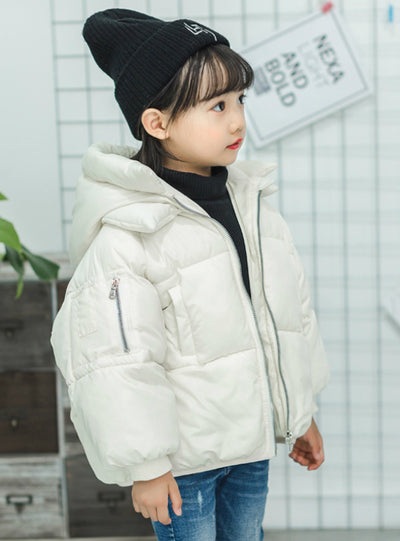 Outerwear Coat Girl Cold Winter Warm Hooded Coat