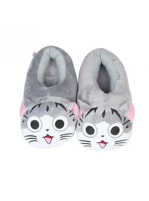 Cartoon Cat Cotton Slippers Soft Warm Home Slippers