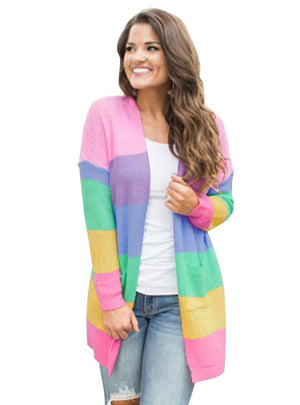 Color Stitching Cardigan Cardigan Coat