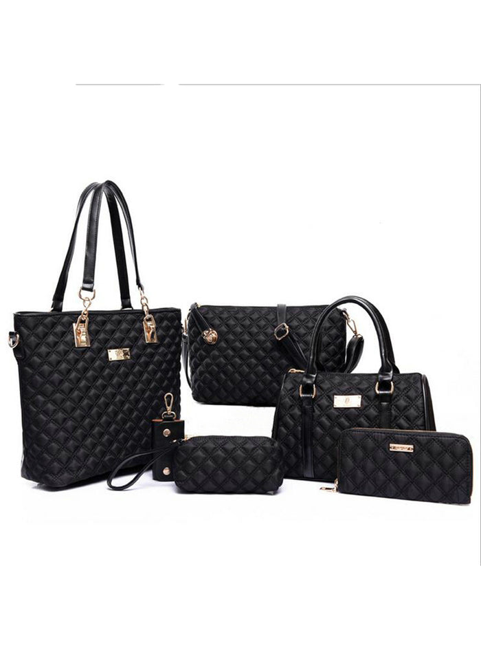 6pcs Patchwork Composite Bag Female Shoulder Bag