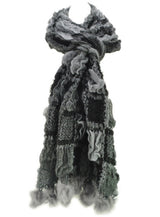 Warm Winter Scarves Women Block Knitted