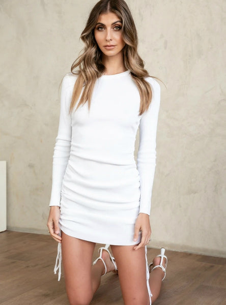 Knitted Drawstring Sexy Bandage Dresses
