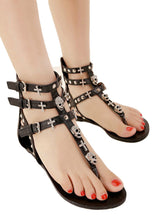 Skull Sandals Shoes Flat Sandals Slippers Flip Flops