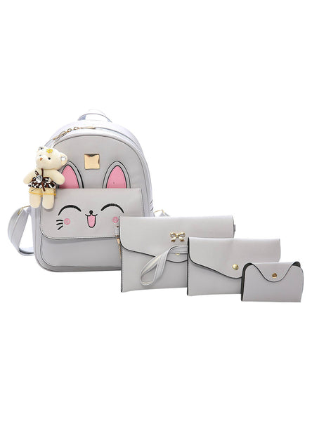 4 Set Animal Shoulder Bag Tote Bag Mini Backpack
