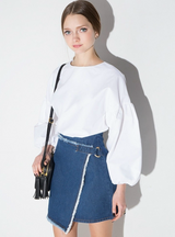 Blue Slim Female Denim Skirt Casual Cute Mini Skirt