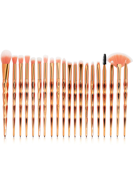 20Pcs Diamond Makeup Brushes Set Powder Eye Shadow