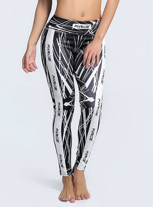 Printed Leggings Trousers Stretch Fitness Pants