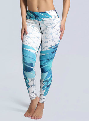 Sportswear Bird's Nest Printed Slim Leggings