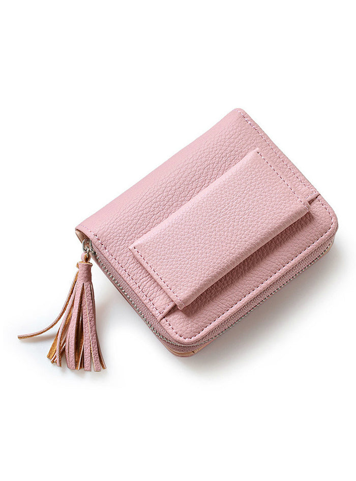 Short Tassel Women's Wallets Lady Mini Purse