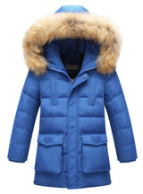 Fur Warm Coat Boys Hooded Down Outerwear