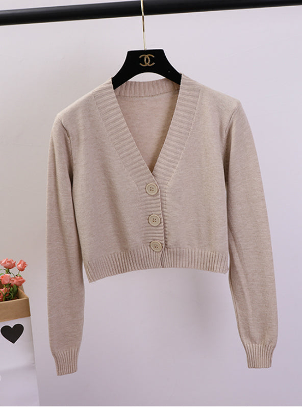 Women's Cropped Cardigan Sweaters Female Sweater