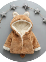 Baby Girls Winter Jackets Warm Faux Fur