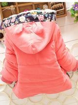 Girls Jacket Winter Cartoon Lovely Keeping Warm