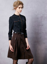 Women's Wool Skirt Lolita Short Skirt