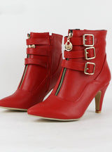 Women Boots High Heels Ankle Boots Pointed