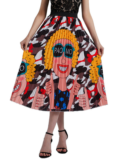 Explosive Head Girls Pleats High Waist Skirt
