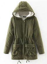 Lamb Wool Cotton-padded Hat Cotton-padded Jacket