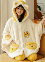 Yellow Jingle Cats Cartoon Animation Sleepwear