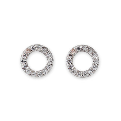 Cubic Zirconia Circle Earrings