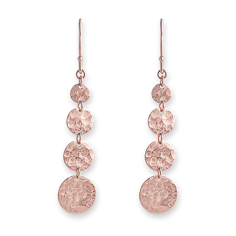 Rose Gold Jingle Hook Earrings