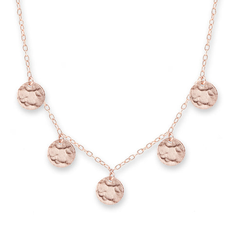 Briller Rose Gold Scattered Jingle Necklace