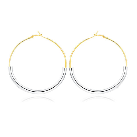 Golden Lady Hoop Earrings