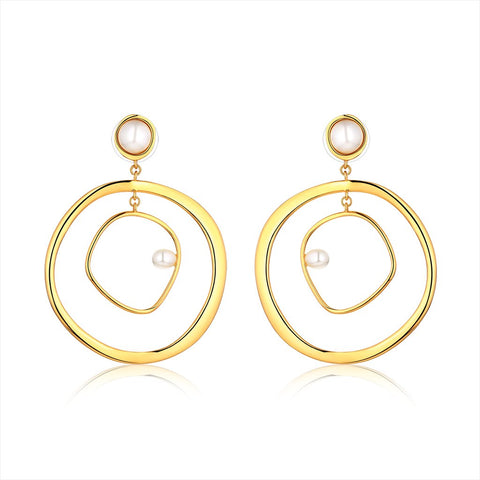 Mamas Pearls Hoop Earrings