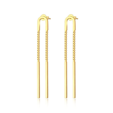 The Caroline U-Shape Chain Earrings