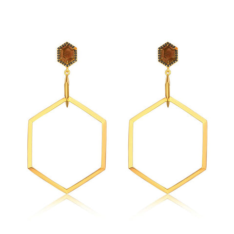 The Emilia Hexagon Hoop