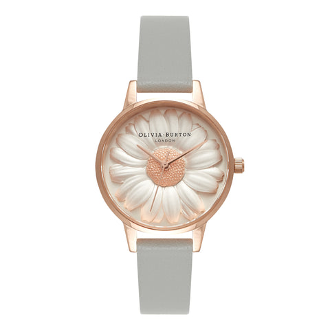Midi Dial Flower Show 3D Daisy Grey Rose Gold