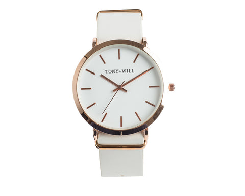 Rose White White Watch