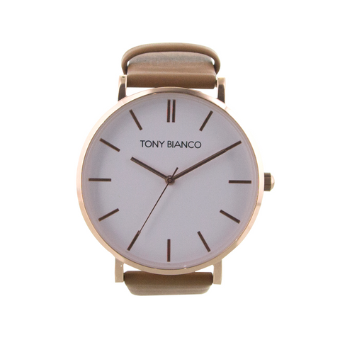 Williams Rose White Tan Watch