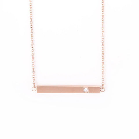 Bar Stud Gold Pendant