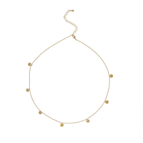 Coin Charm Gold Necklace