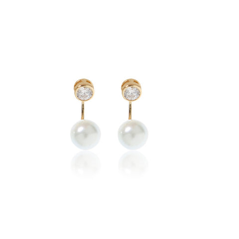 Aura Pearl Gold Ear Jacket