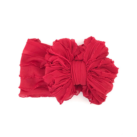 Red Ruffle Bow