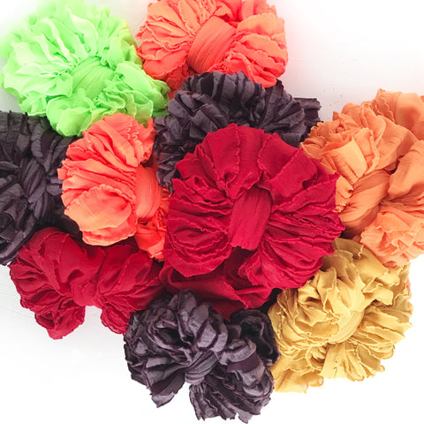 Baby Size Ruffle Bow Headbands (3-12 months)