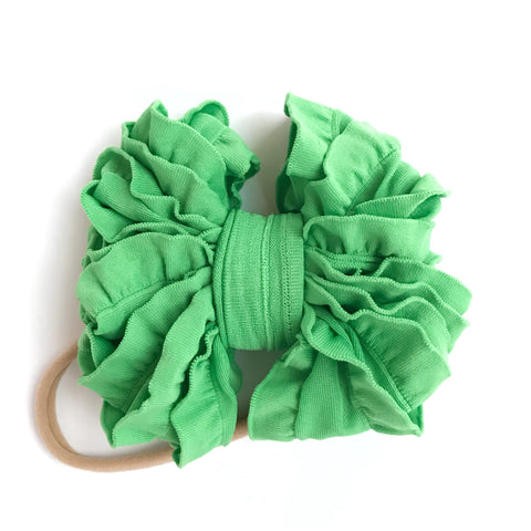 "Grinch Green ""Grow-With-Me"" Ruffle Bow"