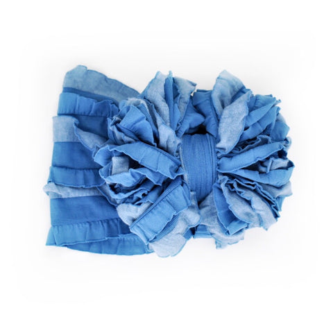 Denim Ruffle Bow