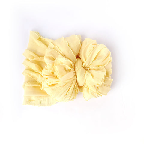Buttercup Ruffle Bow (messy style)