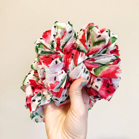 Watermelon Ruffle Bow