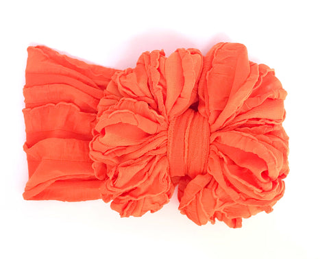 Bright Orange Ruffle Bow