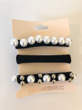 Faux Pearl Hair Scrunchies Set