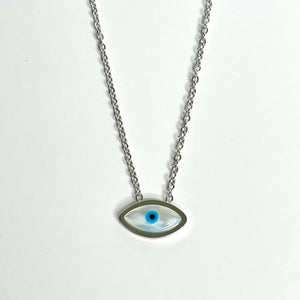 Evil Eye Necklace Stainless Steel
