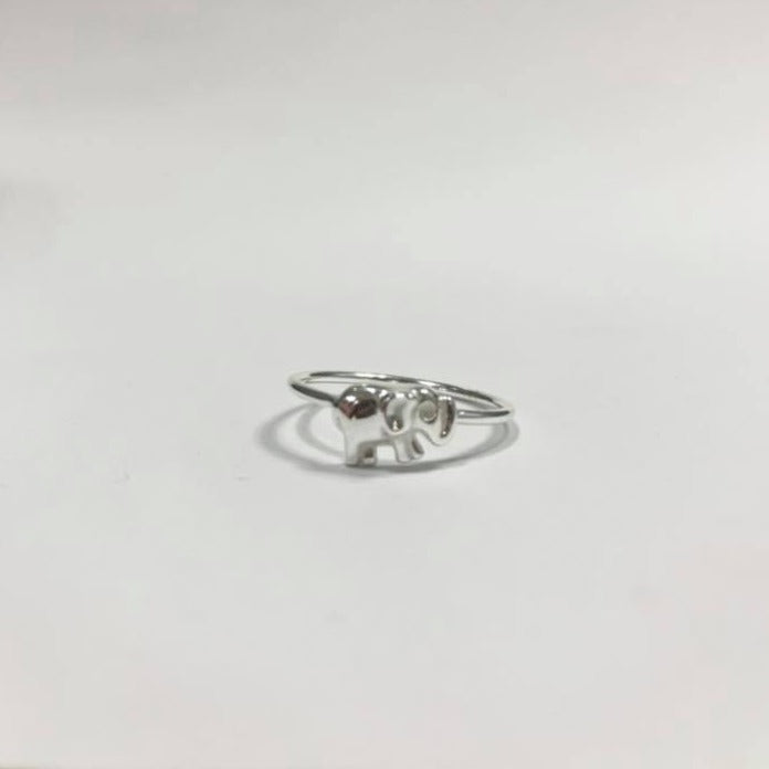 Lucky Elephant Ring Sterling Silver