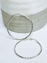 Diamond Cut Hoop Earrings Sterling Silver